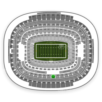 Washington Redskins at FedEx Field Section 342 View