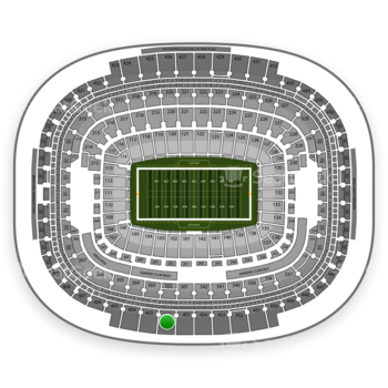 Washington Redskins at FedEx Field Section 402 View