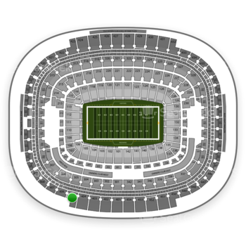 Washington Redskins at FedEx Field Section 405 View