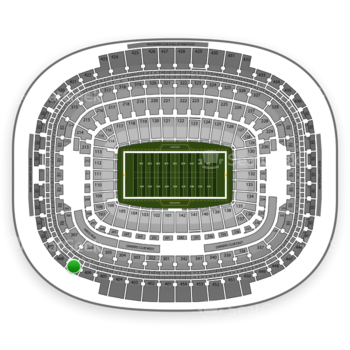 Washington Redskins at FedEx Field Section 407 View