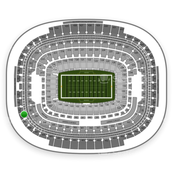 Washington Redskins at FedEx Field Section 410 View