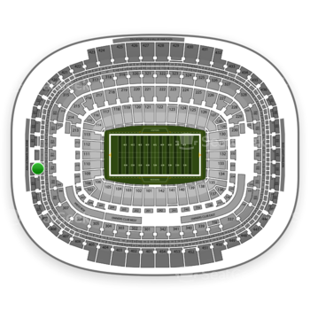 Washington Redskins at FedEx Field Section 413 View