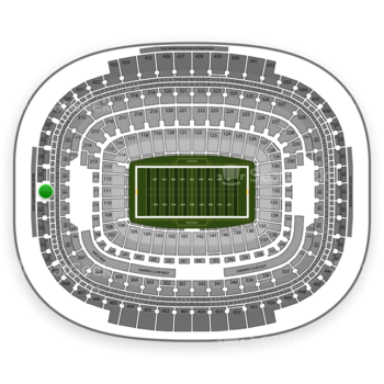 Washington Redskins at FedEx Field Section 414 View