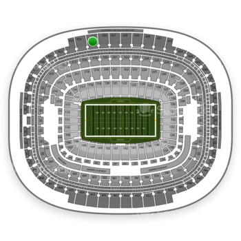 Washington Redskins at FedEx Field Section 425 View