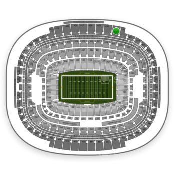 Washington Redskins at FedEx Field Section 431 View