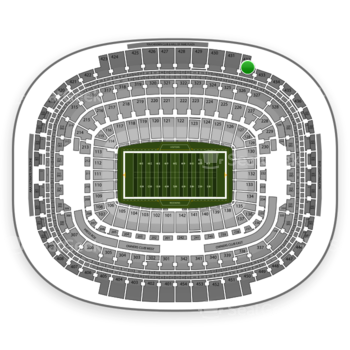 Washington Redskins at FedEx Field Section 432 View