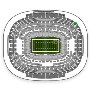 Washington Redskins at FedEx Field Section 435 View