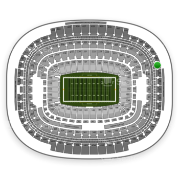 Washington Redskins at FedEx Field Section 438 View