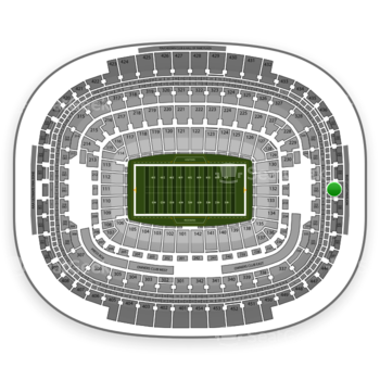 Washington Redskins at FedEx Field Section 441 View