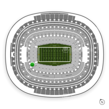 Washington Redskins at FedEx Field Section 108 View