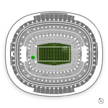 Washington Redskins at FedEx Field Section 110 View