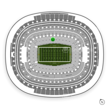 Washington Redskins at FedEx Field Section 121 View