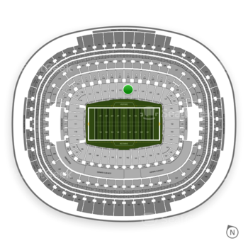 Washington Redskins at FedEx Field Section 122 View