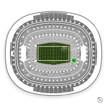 Washington Redskins at FedEx Field Section 134 View