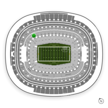 Washington Redskins at FedEx Field Section 216 View