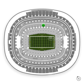 Washington Redskins at FedEx Field Section 222 View