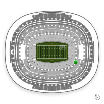 Washington Redskins at FedEx Field Section 235 View