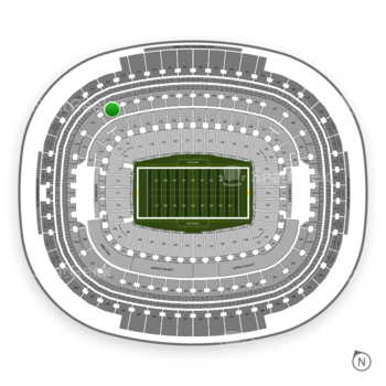 Washington Redskins at FedEx Field Section 316 View