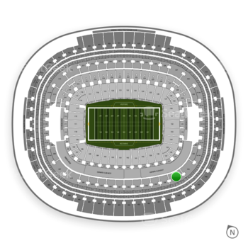 Washington Redskins at FedEx Field Section 337 View