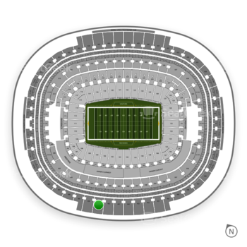 Washington Redskins at FedEx Field Section 403 View