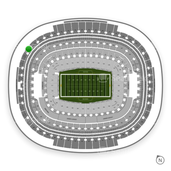 Washington Redskins at FedEx Field Section 419 View