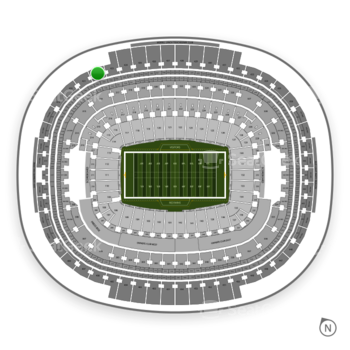 Washington Redskins at FedEx Field Section 422 View