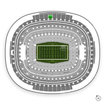 Washington Redskins at FedEx Field Section 427 View