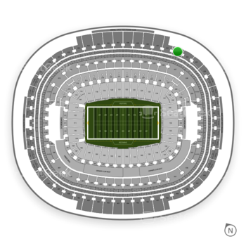 Washington Redskins at FedEx Field Section 433 View