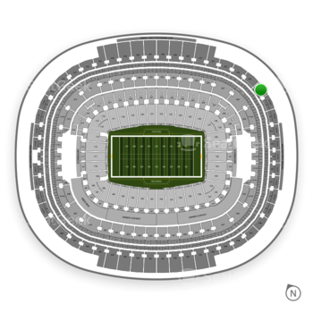 Washington Redskins at FedEx Field Section 436 View