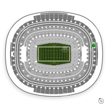 Washington Redskins at FedEx Field Section 439 View
