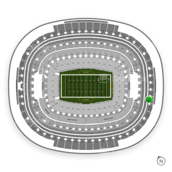 Washington Redskins at FedEx Field Section 443 View