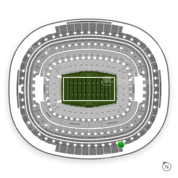 Washington Redskins at FedEx Field Section 450 View