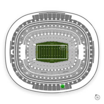 Washington Redskins at FedEx Field Section 452 View