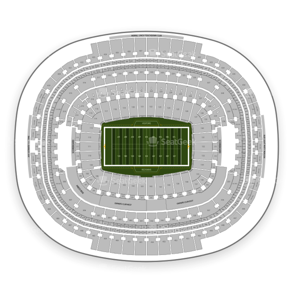 Redskins New Stadium: Washington Redskins Seating Chart & Map