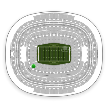 Washington Redskins at FedEx Field Section 107 View