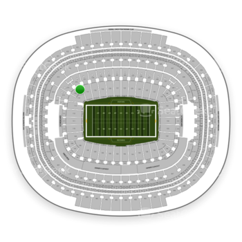 Washington Redskins at FedEx Field Section 116 View