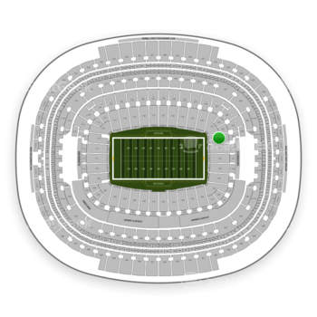 Washington Redskins at FedEx Field Section 130 View