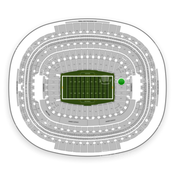 Washington Redskins at FedEx Field Section 131 View