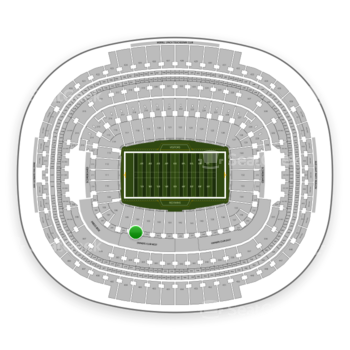 Washington Redskins at FedEx Field Section 204 View