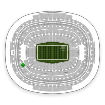 Washington Redskins at FedEx Field Section 308 View