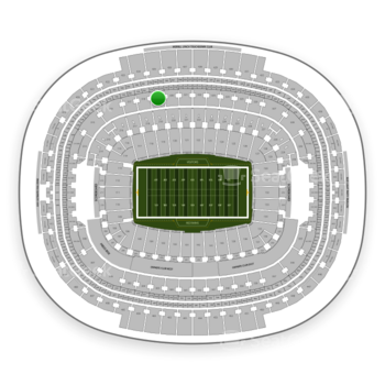 Washington Redskins at FedEx Field Section 319 View