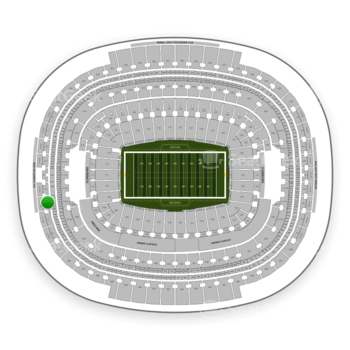 Washington Redskins at FedEx Field Section 412 View