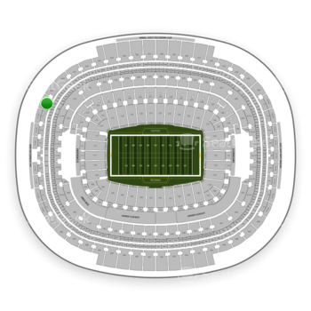 Washington Redskins at FedEx Field Section 418 View