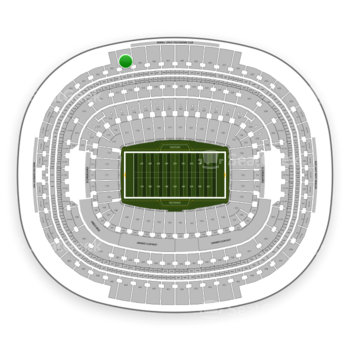 Washington Redskins at FedEx Field Section 424 View