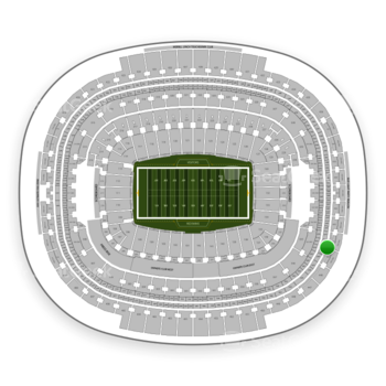 Washington Redskins at FedEx Field Section 444 View