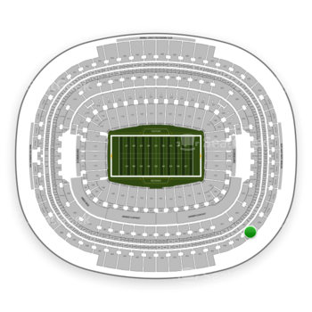 Washington Redskins at FedEx Field Section 447 View