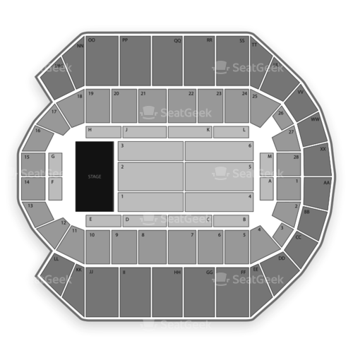 Mississippi Coast Coliseum Seating Chart Concert