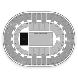 North Charleston Coliseum Seating Chart Concert