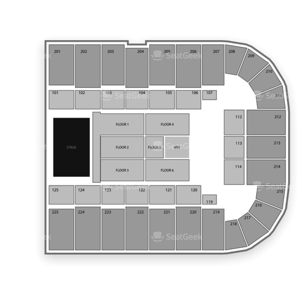 Tucson Arena Seating Chart Concert