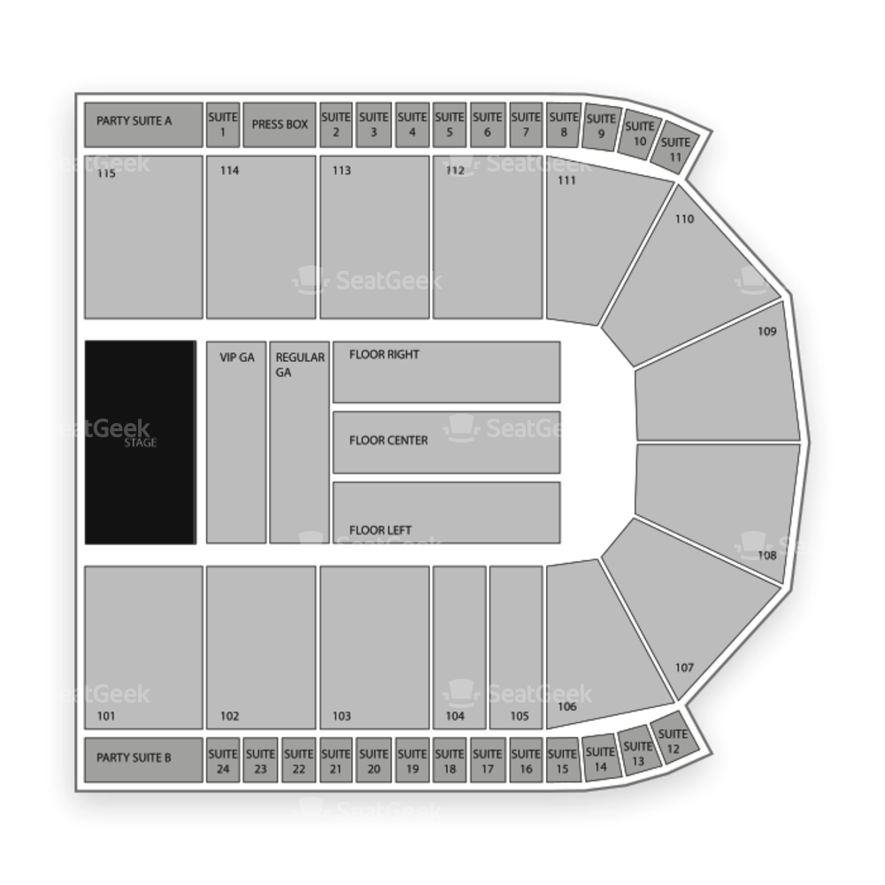 Grossinger Motors Arena Seating Chart Concert